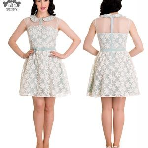 Hell Bunny sheer floral dress